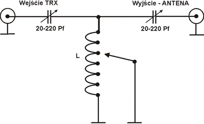 """Skrzynka antenowa w układzie """"T"""""""